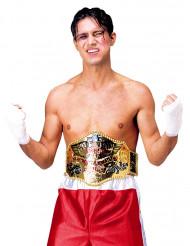 Cinturón de campeón de boxeo para adulto