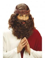 Peluca y barba de profeta para hombre