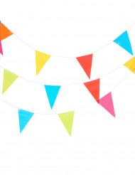 Guirnalda de banderines de varios colores 10 metros.