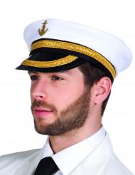 Sombrero de capitán de la marina para adulto