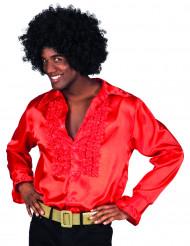 Camisa roja estilo disco para adulto