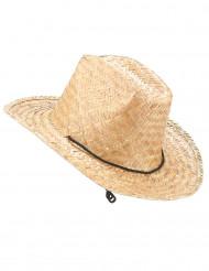 Sombrero de paja Dallas Bull para adulto
