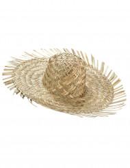 Sombrero hawaiano de paja para adulto