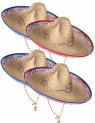 Sombrero mejicano de paja para adulto
