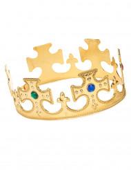 Corona dorada para hombre