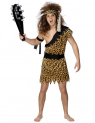 Disfraz de hombre cavernícola color leopardo