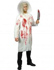 Disfraz de médico ensangrentado para hombre, ideal para Halloween