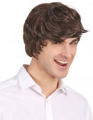 Peluca corta moderna color negro para hombre