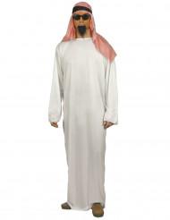 Disfraz de emir árabe con cofia para hombre