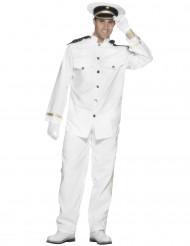 Disfraz de capitán de la marina blanco para hombre