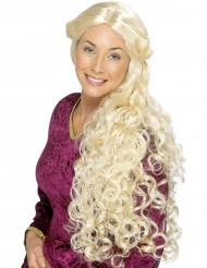 Peluca larga rubia ondulada para mujer