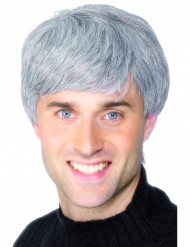 Peluca moderna color gris para hombre
