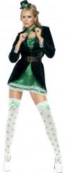 Disfraz de irlandesa sexy San Patricio