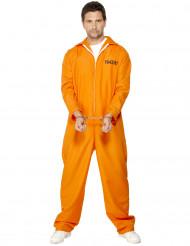 Disfraz de preso para hombre naranja