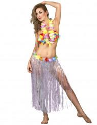 Falda hawaiana para mujer flores