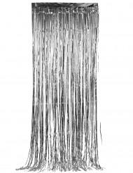 Cortina plateada con brillos