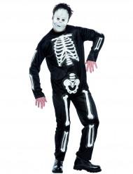 Disfraz de esqueleto para hombre Halloween