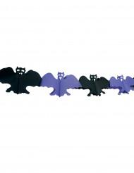 Guirnalda con murciélagos ideal para Halloween