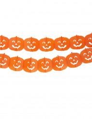 Guirnalda con calabazas naranja Halloween