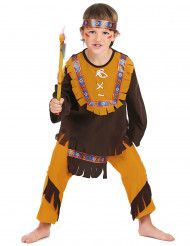 Disfraz de indio para niño marrón y amarillo