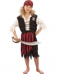 Disfraz de pirata para niña bucanera