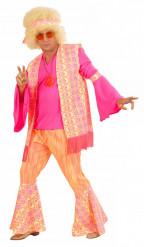 Disfraz rosa de hippie para hombre