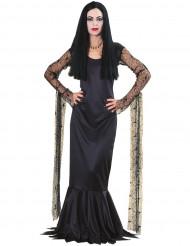 Disfraz oficial de Morticia de la Familia Addams™ para mujer