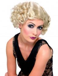 Peluca rubia de cabaret para mujer