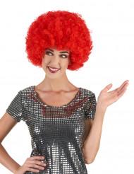 Peluca roja afro disco