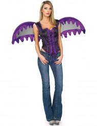 Disfraz violeta de ángel