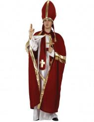 Disfraz rojo de obispo para hombre