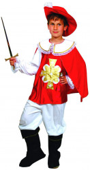 Disfraz de mosquetero para niño rojo