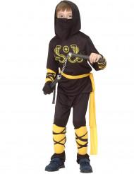 Disfraz de ninja amarillo y negro niño