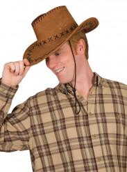 Sombrero marrón de vaquero