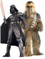 Disfraz de pareja Darth Vader y Chewbacca para coleccionistas