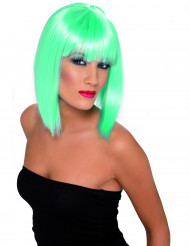 Peluca azul turquesa para mujer en forma de media melena