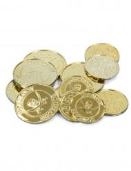 Monedas de tesoro pirata