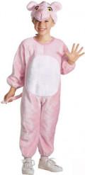 Disfraz de felino rosa para niño o niña