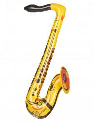 Saxofón inflable amarillo
