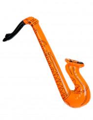 Saxofón inflable naranja
