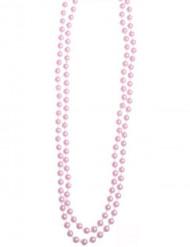 Collar de perlas rosas