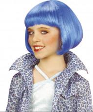 Peluca para niña estilo jazz azul
