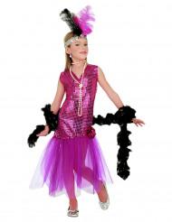 Vestido de charlestón con glamour para niña