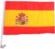 Bandera para coche de aficionado español