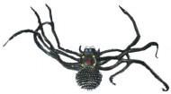 Araña gigante negra ideal para Halloween