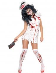 Disfraz de enfermera zombie para mujer, ideal para Halloween