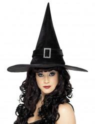 Sombrero negro de bruja para mujer, ideal para Halloween