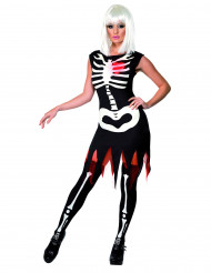 Disfraz de esqueleto para mujer, ideal para Halloween