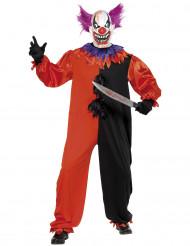 Disfraz de payaso terrorífico para adulto, ideal para Halloween