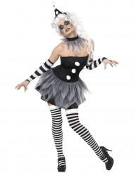 Disfraz sexy de Pierrot para mujer, ideal para Halloween